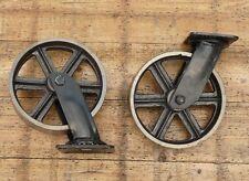 Industrie Loft Design Rollen Guss Metall antik Style