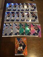 2020 Mosaic Deshaun Watson Green Orange Pink Prizm Bade & Inserts - 19 Card Lot