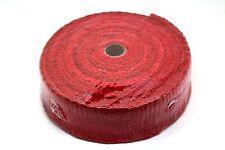 """Céramique fibre chaleur Wrap bande collecteur d'échappement, largeur 2 """", longueur 10m Rouge 2 mm"""
