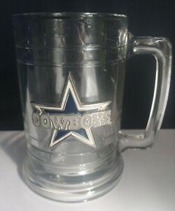 Vintage Dallas Cowboys glass tankard 1 PINT 1980'S