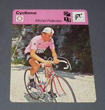 FICHE CYCLISME 1977 MICHEL POLLENTIER GIRO TOUR FRANCE WIELRIJDER CICLISMO