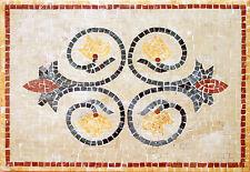 Round Twist Center Middle Garden Home Decor Marble Mosaic Geo567