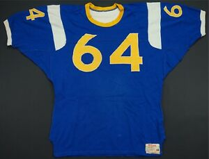 Rare VTG WILSON LA Rams Colors #64 Stitched Sewn Football Jersey 50s 60s Blue 44