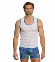 Kiniki Azure Men's Tan Through Vest Top