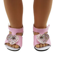 Pink Summer Ankle Belt Sandals Shoes for 18inch AG American Doll Doll Accs