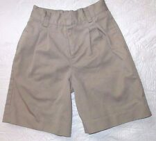 Euc Youth Juniors Boys Size 5 Classroom Khaki Tan School Uniform Shorts Pants