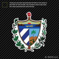 Cuban Coat of Arms Sticker Decal Self Adhesive Vinyl Cuba flag CUB CU