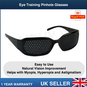 Eye Training Pinhole Glasse - NATURAL VISION IMPROVEMENT - Myopia Hyperopia