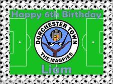 Football pitch,You Choose club,Birthday cake topper.