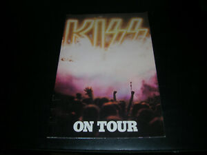 KISS On Tour book program 1976 Gene Simmons Paul Stanley Ace Frehley Peter Criss