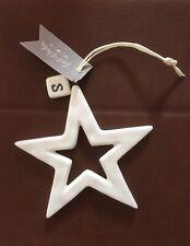 East of India Porcelain Hanger Outline Star Hanging Decoration Initial S