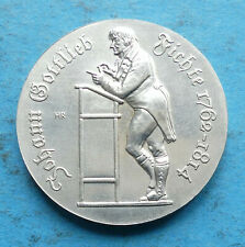 ! DDR GDR Silber 10 Mark 1990 f. unz aunc Johann Gottlieb Fichte Philosoph RRR
