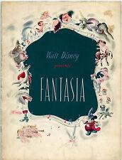 DISNEY'S FANTASIA 1940 Release • US Program • VG CONDITION