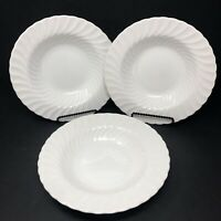 3 Johnson Brothers Regency White Rimmed Soup Bowls Swirl Ironstone England
