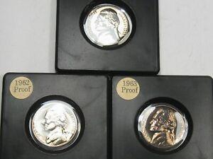 3 Proof Nickels: 1958, 62, 63.  #17