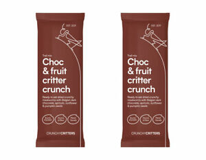 Crunchy Critters edible insects bugs Choc & fruit critter crunch x 2 packs