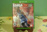 NBA 2K15 (Microsoft Xbox One, 2014) Complete w/ Manual - Near Mint Disc!!