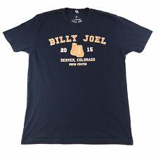 Billy Joel 2015 Denver Colorado Concert T-Shirt Logo L Large #1118 Made In USA