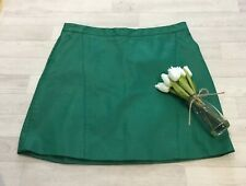 Tu Size 16 Faux Leather Green A-Line Skirt