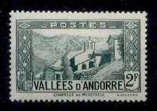 ANDORRE FRANCAIS 1937-1943 - 82 CHAPELLE DE MERITXELL - NEUF LUXE **