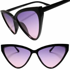 Elegant Exotic Womens Vintage Retro 50s 60s Look Cat Eye Purple Lens Sunglasses