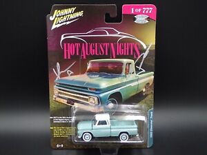 Dédicacé 1965 Chevy Camion Johnny Lightning 2017 Chaud August Nights Excl 1/777