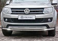BARRE SOUS PARE CHOC INOX LEDS VW AMAROK 11-16, avec feux diurnes à LED (DRL),