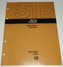 John Deere 1974 Ottumwa Service Textbook Manual 1214 Mower Conditioner Amp More Jd