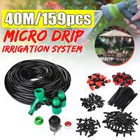 40m DIY Water Irrigation Kit Micro Drip Watering Plant System Garden Hose Set