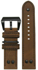 22mm XL Panatime MB-1 Vintage Classic Brown Pilot Watch Band 22/22 135/85
