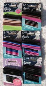 Goody Velvet Secure Elastic Hair Band Ponytailers Slide Proof Stay Put No Metal