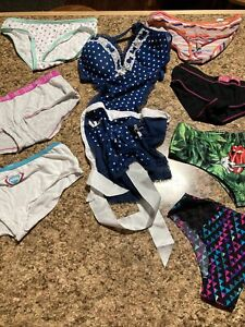 7 Pair Cutter Lot Cute Panties Victoria Secret, Pink And Various + Body Outfit