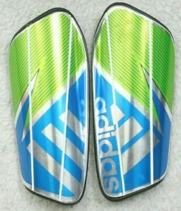 Adidas Green Blue Gray Soccer Shin Guards XL Extra Large No Ankle Pads Age 18+