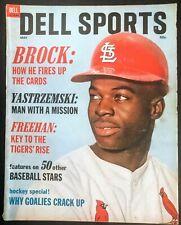 1968 DELL SPORTS BASEBALL MAGAZINE - CARDINALS LOU BROCK