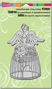 Stampendous Retired Cling Stamp: Angel Aviary CRR246