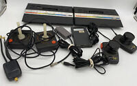 2 ATARI 2600 Systems Lot With Controllers Video Game Consoles Black Untested