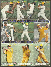 FUTERA 1996 WORLD CUP CRICKET WESTERN WARRIORS CRICKETERS Set of 10 CARDS