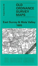 OLD ORDNANCE SURVEY MAP EAST SURREY HORLEY REDHILL REIGATE MOLE VALLEY 1885
