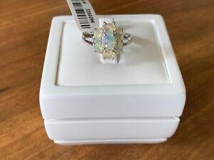 Wegeltena Ethiopian Welo Opal Sterling Silver Ring Size M