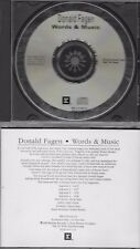 DONALD FAGEN  Words + Music  rare promo interview CD  STEELY DAN