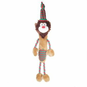 Rosewood Multi Textured Luxury Large Lennon The Lion With Internal Squeaker