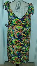 NWOT Vintage LucianoTempesta Dress Size M 100% SILK,made in USA, GEORGEOUS!