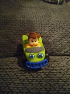 Fisher Price Little People Green Toy Story Car Woody Wheelies Figure 2009