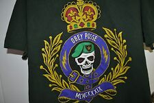 OBEY Posse T-Shirt Men Adult Large Army Green 1989 Skull Crown