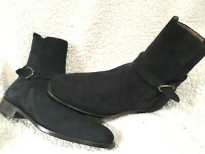 """LUCCHESE NEW MEN TOP QUALITY """"LUCCHESE"""" GRAYSON SUEDE BOOTS-ITALY-BLUE-sz 9 D"""