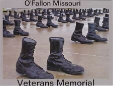 "+PC-Postcard-""The Boots...O'Fallon Missouri...Veterans Memorial"" (B343)"
