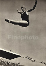 1936 Vintage OLYMPICS Germany MARJORIE GESTRING Dive Photo Art 11x14 PAUL WOLFF