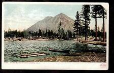 1907 boats lake Muirs Butte near Mt.Shasta California mountain postcard
