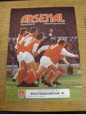 02/11/1974 Arsenal v Wolverhampton Wanderers  (Number On Back)