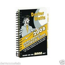 New Doctor Watts Pocket Electrical Guide 2008 Spiral Bound & Laminated b249